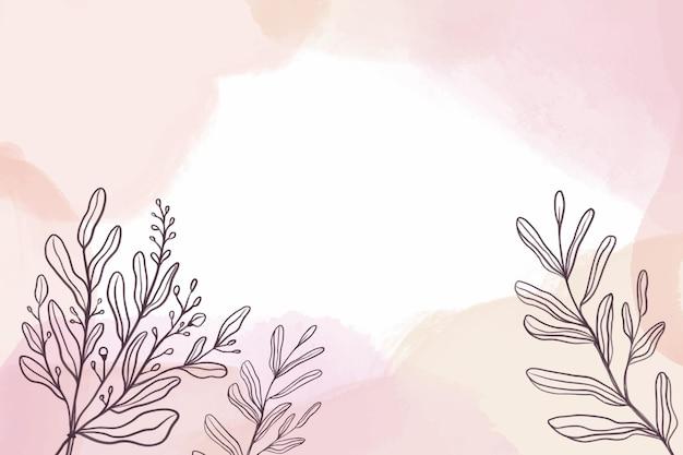 Akwarela tło z roślinami