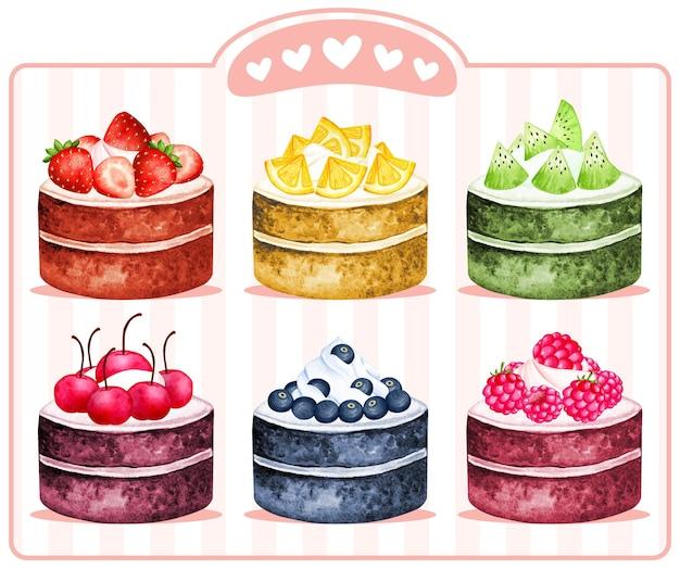 Akwarela tort rolkowy