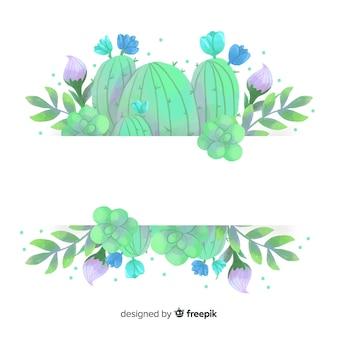 Akwarela transparent kaktus z pusty transparent