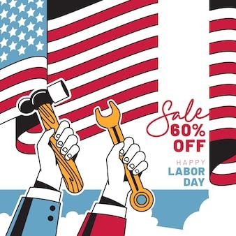 Akwarela transparent sprzedaży dzień pracy