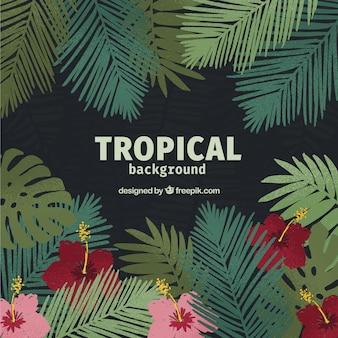 Akwarela tropikalny tło w eleganckim stylu