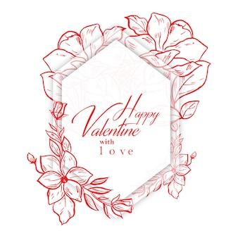 Akwarela valentine frames