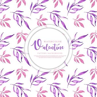 Akwarela valentine heart pattern