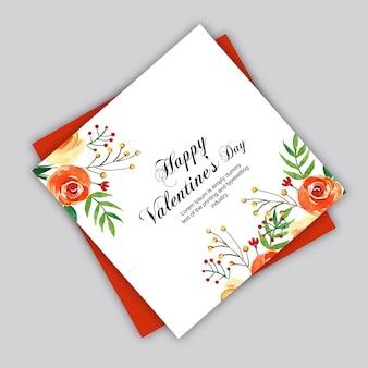 Akwarela valentine karty