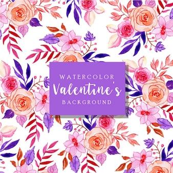 Akwarela Valentine Tło