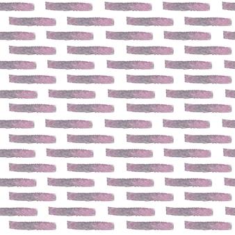 Akwarela wektor cegieł wzór. streszczenie ręcznie malowane akwarela wektor na białym tle różowe i szare cegły wzór tła