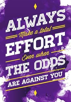 Akwarela wektor ilustracja koncepcja z frazą inspiracji na plakat lub t-shirt. kreatywny cytat motywacyjny.