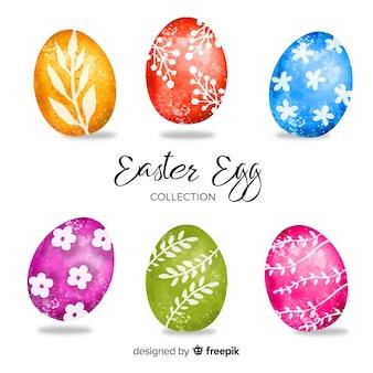 Akwarela wielkanocny dzień kolekcja jaj