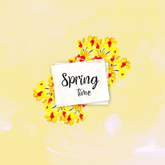 Akwarela wiosna kwiatowy tło