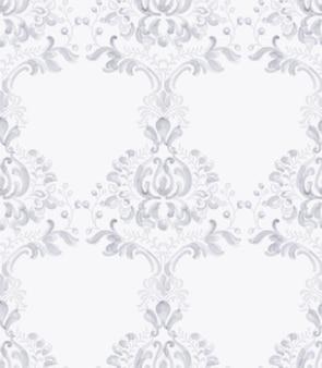 Akwarela wzór klasyczny elegancki ornament. lawendowe delikatne tekstury