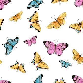 Akwarela wzór motyla
