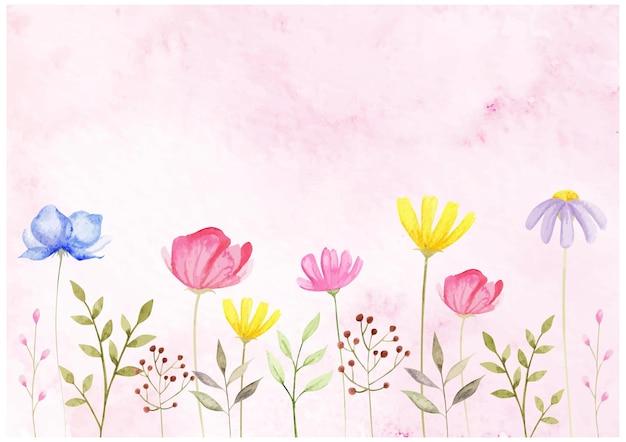 Akwarela z kwiatami