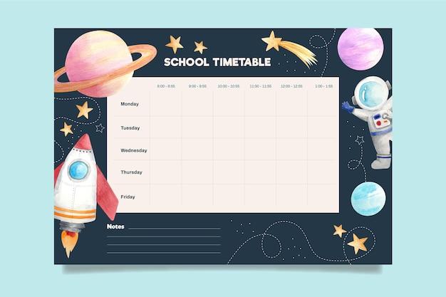 Akwarela z powrotem do harmonogramu szkoły
