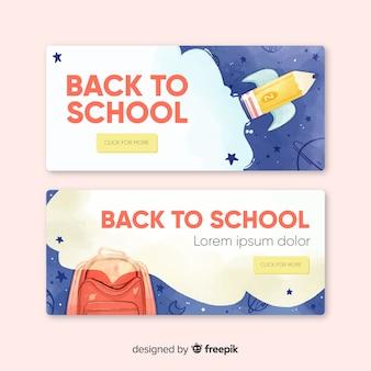 Akwarela z powrotem do szkolnych banerów