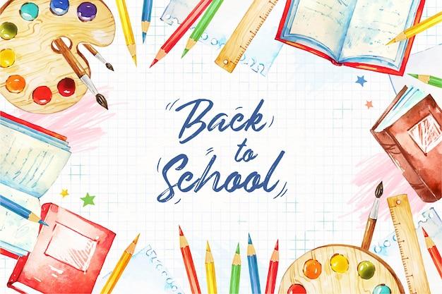 Akwarela z powrotem do szkoły