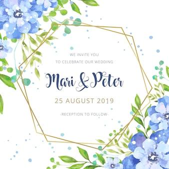 Akwarela zaproszenie na ślub