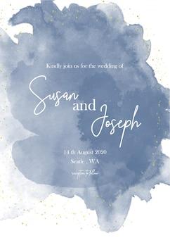 Akwarela zaproszenie na ślub nowoczesną kartę