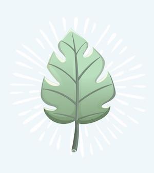 Akwarela zestaw z tropikalnymi liśćmi elementu wektora do projektowania