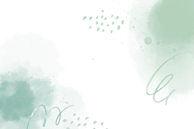 Akwarela zielone abstrakcyjne kształty tła