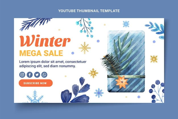 Akwarela zimowa miniatura youtube