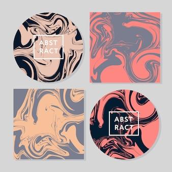 Akwarele abstrakcyjne karty