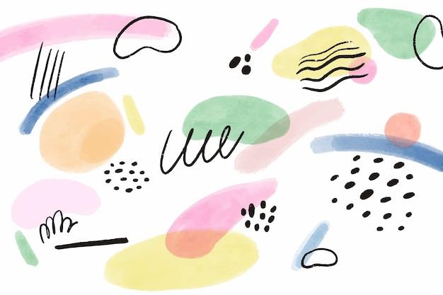 Akwarele malowane tła koncepcji