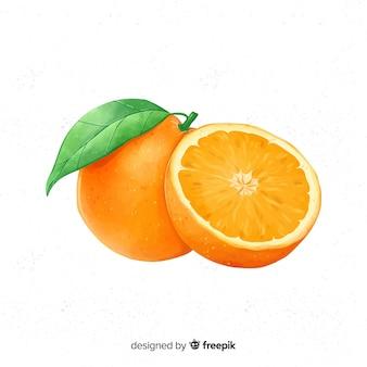 Akwarele pomarańczowe tło