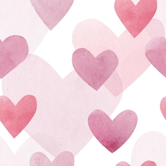 Akwarele serca. jednolity wzór