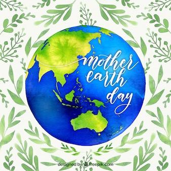 Akwarele tła dla międzynarodowego dnia ziemi