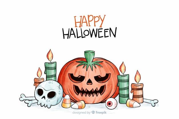 Akwarele tła halloween