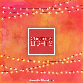 Akwarele tła z christmas światła