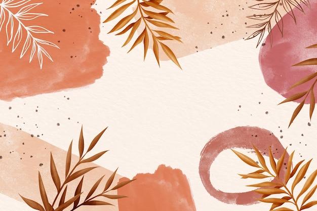 Akwarele tła z liści