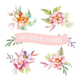 Akwarele wiosna kwiaty