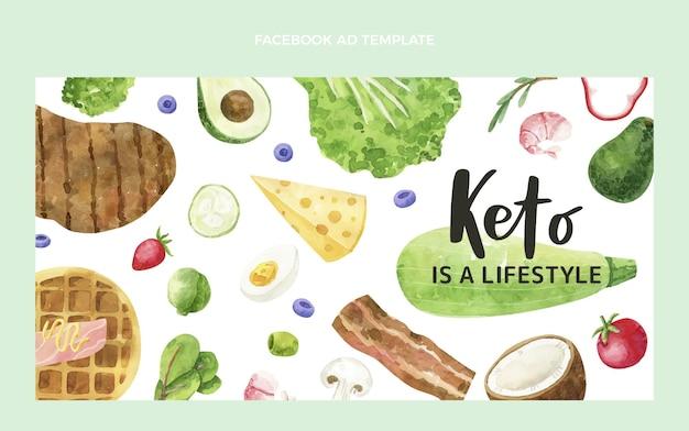 Akwarele żywności na facebooku