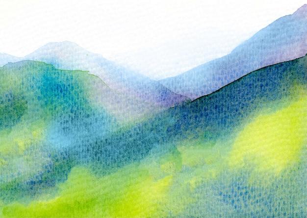 Akwareli halny abstrakcjonistyczny tekstury tło