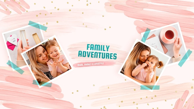 Akwarelowa grafika rodzinna na kanale youtube
