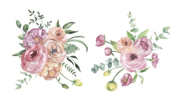 Akwarelowe kompozycje kwiatowe
