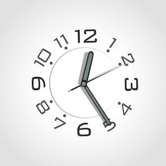 Alarm czarny srebrny numer tle