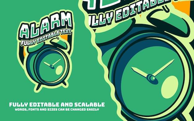 Alarm maskotki sportowe logo