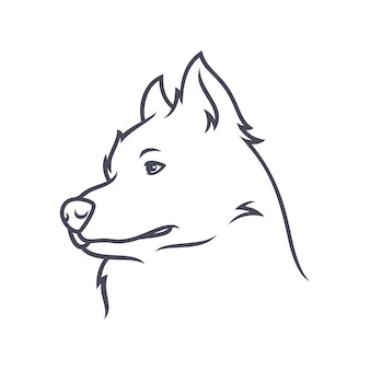 Alaskan malamute dog - wektor logo / ikona ilustracja maskotka