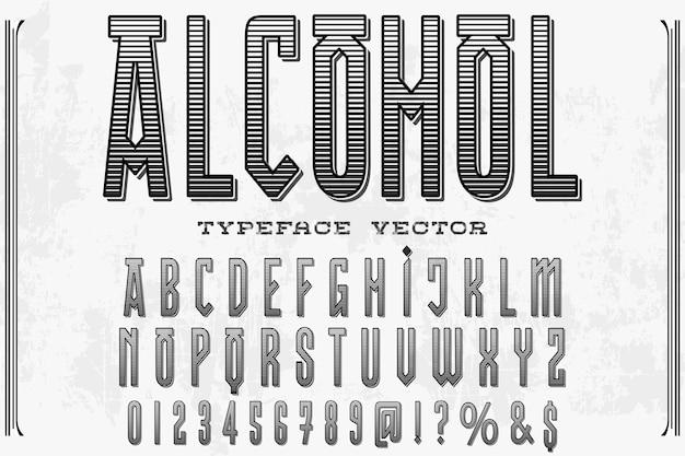 Alchol projekt etykiety retro typografii