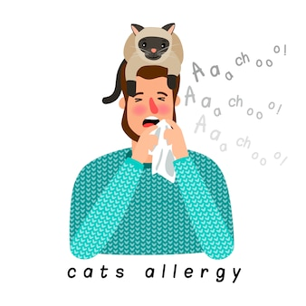 Alergia z kotem na głowie
