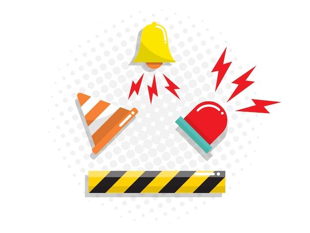 Alert ikona wektor płaska konstrukcja