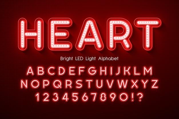 Alfabet 3d z podświetleniem led, dodatkowo świecący nowoczesny typ. kontrola koloru próbki.