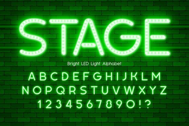 Alfabet 3d z podświetleniem led, dodatkowo świecący nowoczesny typ.