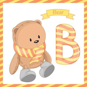 Alfabet b z kreskówki niedźwiedzia