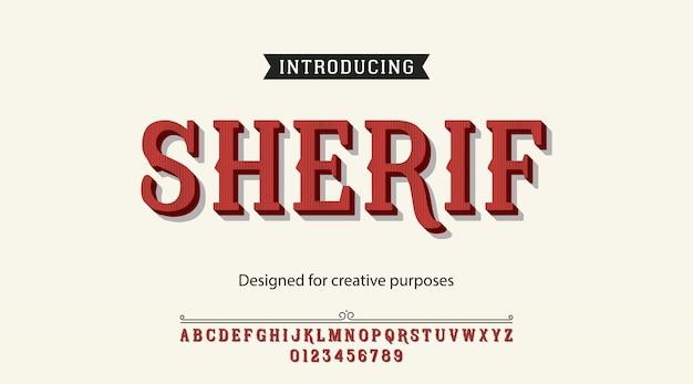 Alfabet czcionek sherif