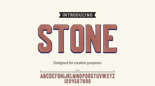 Alfabet czcionki czcionek kamienia
