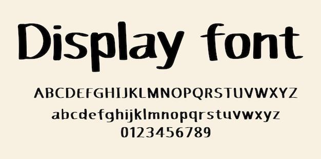 Alfabet czcionki pisma odręcznego