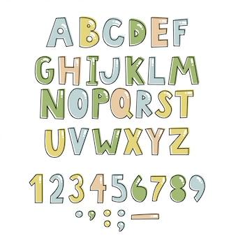 Alfabet dla dzieci.